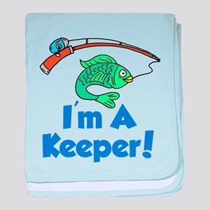 Im A Keeper Fish baby blanket